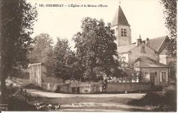 58 - GERMENAY,  L'EGLISE ET LA MAISON D'ECOLE - France