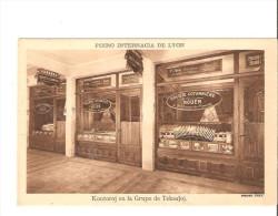 FOIRO INTERNACIA DE LYON-KONTOROJ EN LA GRUPO DE TEKSAJOJ-SOCIETE COTONNIERE  ROUEN-CARTE RARE- - Esperanto