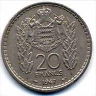 20 F - Monaco - 1947 - Monaco