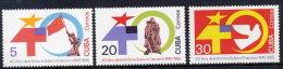 CUBA 1985 40th Anniversary Of End Of WWII MNH / **.  Scott 2796-98 - Cuba