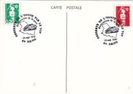 Railroad Trains: France 1996 Sens TGV - Train In Cachet (G60-49) - Eisenbahnen
