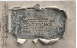 Monnaie - Représentation D'un Billet De Cent Francs - 2 Scans - Monnaies (représentations)