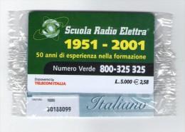 TELECOM ITALIA - CARTA ALBERGHI SCUOLA RADIO ELETTRA  - NUOVA IN BLISTER 1.000ex - Usos Especiales