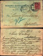 217)cartolina Postale Viaggiata Rosario Giannetto Fu Giuseppe 10cent. Leoni - 1900-44 Vittorio Emanuele III