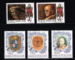 VATICANO - 1978 - NUOVI Sass.633-4, 635-7  Genetliaco Di Paolo VI E Centenario Morte Pio IX - Vaticano