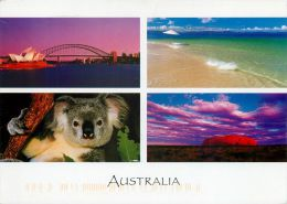 Multiview, Australia Postcard Used Posted To UK 2005 Stamp - Australie