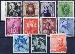 ROMANIA 1938 8th Anniversary Of Accession Set MNH / **.  Michel 553-63 - 1918-1948 Ferdinand, Charles II & Michael