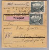 Heimat DE Ha Hamburg-Harburg 1942-10-21 Paketkarte Dringend Nach Coburg - Deutschland