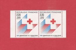 *  YT France N°2555a  Neuf ** : CROIX ROUGE :  125éme Anniversaire De La Croix Rouge   : Scan B - Frankrijk
