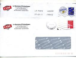 Pap Logo Luquet Flamme  Entete Nantaise D'emballage - Entiers Postaux