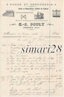 C-J. POULY - FORGE ET SERRURERIE - VENTE ET REPARATIONS D'OUTILS DE CULTURE - JARNIOUX - RHONE - LE 1912 - Straßenhandel Und Kleingewerbe