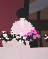 "X André Vigud ""Fiori Rosa"" Litografia A Colori - Cm.55x38 - Litografia"