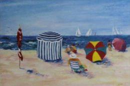 """X Serge Desnoyers """"A La Plage"""" Litografia A Colori - Cm.40x30 - Litografia"""