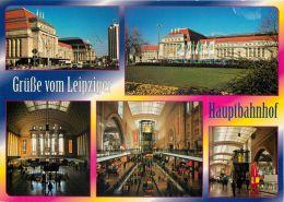 Hauptbahnhof, Leipzig, Germany Postcard Used Posted To UK 2003 Stamp - Leipzig