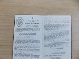 Doodsprentje Achiel Verbeke Meulebeke 14/4/1892 Izegem 18/1/1958 ( Magdalena Desmet ) - Religione & Esoterismo
