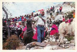 Aymares En La Isla Del Sol, Bolivia Postcard Used Posted To UK 2003 CUBA Nice Stamp - Bolivia