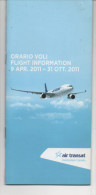 Alt529 Timetable Flights, Schedule, Orario Voli, Flight Information, Air Transat, Canada, Aereo, Avion - Timetables