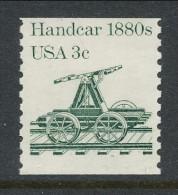 USA 1983 Scott # 1898. Transportation Issue: Handcar 1880s, MNH (**) - Coils & Coil Singles