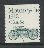 USA 1983 Scott # 1899. Transportation Issue: Motorcycle 1913, MNH (**), Single P#2 - Coils (Plate Numbers)