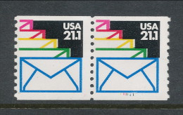 USA 1985 Scott # 2150. Sealed Envelops, Pair With P# 111111, MNH (**).