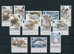 "Südgeorgien - Mi.Nr. 390 / 401 - ""Dauerserie Jungtiere / Defintive Stamp Issue Young Animals"" ** / MNH - Géorgie Du Sud"