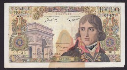 BILLET DE 10000 FRANCS NAPOLEON BONAPARTE De 1956 Série E1 - 3 1956 E - W9 - Très Bon état - 1871-1952 Anciens Francs Circulés Au XXème