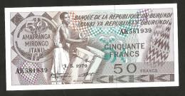[NC] BURUNDI - BANQUE De La REPUBLIQUE Du BURUNDI - 50 FRANCS (1979) - Burundi