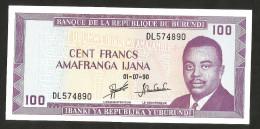 [NC] BURUNDI - BANQUE De La REPUBLIQUE Du BURUNDI - 100 FRANCS (1990) - Burundi