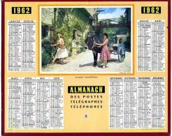 CALENDRIER ALMANACH DES  POSTES 1962 OBERTHUR  PLAISIRS CHAMPETRES SANS FEUILLETS - Calendriers