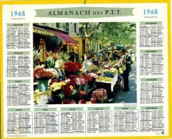 CALENDRIER ALMANACH DES  POSTES 1968  OBERTHUR TOULON  LE MARCHE SANS FEUILLETS - Grand Format : 1961-70