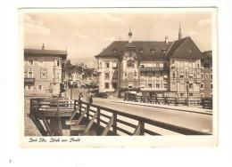 CPA  :  Bad Toelz : Blick Zur Stadt : Maisons - Pont - Voitures - Animation - Häuser - Brücke - Autos - Lebhaf - Bad Toelz