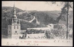 599 - BELGIQUE  - MALONNE - L' Eglise Et Le Calvaire -  Dos Non Divisé - Belgique