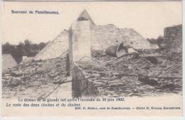 21292g RESTE De DEUX CLOCHES Et Du CLOCHER - Grande Nef Après L'incendie Du 30 Juin 1902 - Familleureux - Seneffe