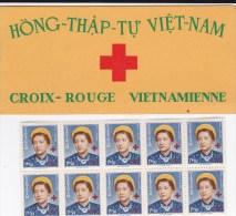 1952 - VIETNAM - CARNET CROIX-ROUGE Avec TIMBRES DETACHES MiNr.88 **/* - COTE DES TIMBRES = 100 EUR. - Viêt-Nam