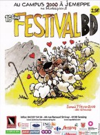 Carte Postale Flyer F'MURR Festival BD Jemeppe 2009 (Le Génie Des Alpages ) - Ansichtskarten