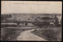 COURCELLES - CHAUSSY : VUE GENERALE PRISE DE LA COTE DE FRECOURT 1922 - Frankreich