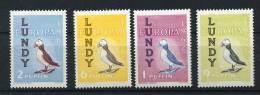 LUNDY  LOCAL POST  Série De Base 4 Valeurs  PUFFIN  Oiseau De Mer - Local Issues