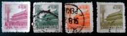 SERIE COURANTE MODIFIEE 1954 - OBLITERES - YT 1008 + 1012/13 + 1015 - Oblitérés