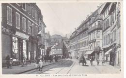Colmar Rue Des Clefs Et L Hotel De Ville Tres Animée Hotloger Richard Blum Commerce Animée - Colmar
