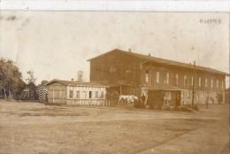 MUNSTER CARTE PHOTO BATIMENT MILITAIRE ? EN 1917 ANIMEE RARE - Munster