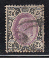 Transvaal Used Scott #263 2sh6p Edward VII, Black And Violet - South Africa (...-1961)