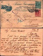 224)cartolina Postale  Viaggiata Sponsor Perino Giovanni 5+10cent.leoni Da  Torino A Riposto - Storia Postale