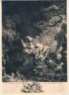 Musée Fragonard, GRASSE - L´Escarpolette, Gravure D´après Fragonard - Circulée En 1959, 2 Scans - Musées