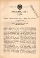 Original Patentschrift - Charles De Baillencourt Dans Douai , 1892 , Machine Pour La Filature, Rouet !!! - Tools