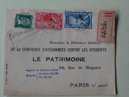 Devant De Lettre  Jeux Olympiques Paris 1924 Affranchie 25c -50cbleu Et 10c Pasteur