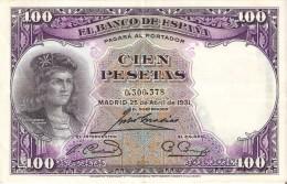 BILLETE DE ESPAÑA DE 100 PTAS DEL AÑO 1931 SIN SERIE - GONZALO DE CORDOBA CALIDAD MBC - [ 2] 1931-1936 : Repubblica