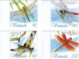 van1201 Vanuatu 2012 Dragonflies of Vanuatu 4v