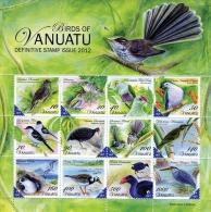 van1202s Vanuatu 2012 Vanuatu Birds Definitive s/s