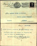 230)cart Post.viaggiata Sponsor  Pajalich Giovanni Cent.  30 Imperiale Da Venezia A Riposto - Storia Postale