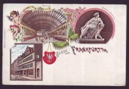 Gruss Aus FRANKFURT S / M - Litho - Fantaisie -  Souvenir De - Philipp Frey & Co // - Gruss Aus.../ Grüsse Aus...